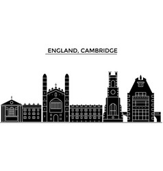 england cambridge architecture city vector image