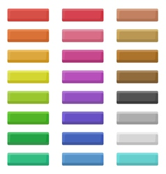 Flat web buttons vector image