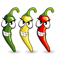 funny Mexican hot chili peppers vector image