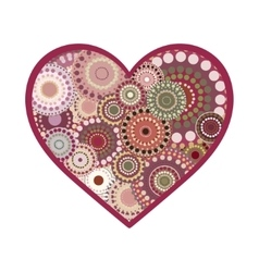 romance vintage heart greeting card vector image