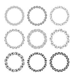 Round laurel wreaths vector image