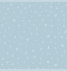 snowflkes seamless pattern hand drawn vector image