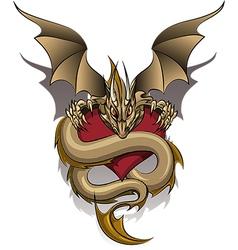 Greedy Dragon vector image vector image
