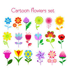set of cartoon style colorful vector image