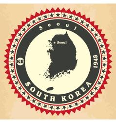Vintage label-sticker cards of South Korea vector image vector image
