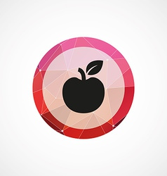 apple circle pink triangle background icon vector image vector image