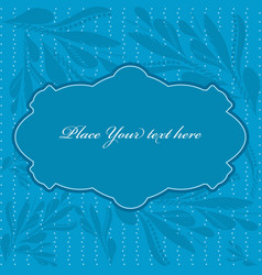 Blue frame with paisley pattern vector image