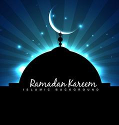 masjid ramadan backgorund vector image vector image