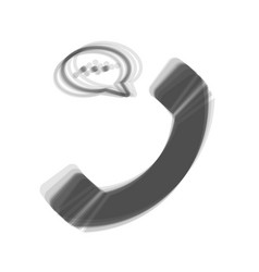 phone with speech bubble sign gray icon vector image