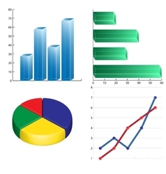 business charts infographics linear circular and vector image