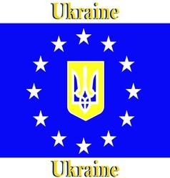 Europe Corporation Logo Symbol Tourism Ukraine Ban vector image vector image