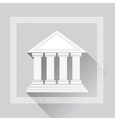 Greek Pillars Icon vector image vector image