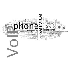 a guide to voip vector image