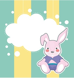 A stationery with a sad bunny vector image