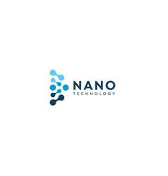 abstract nano icon blue circles in semicircle vector image