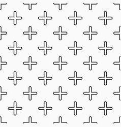abstract seamless pattern smooth crosses or vector image