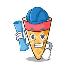 Architect ice cream tone character cartoon vector