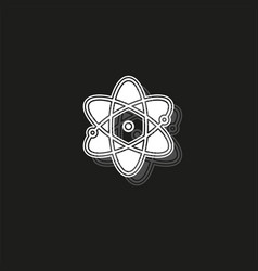 atom icon atom symbol chemistry and science vector image