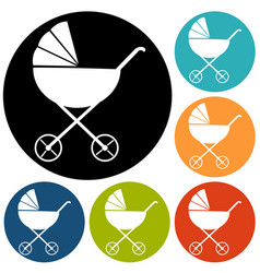 baby carriages vector image