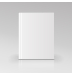 Blank book cover Isolated vector image