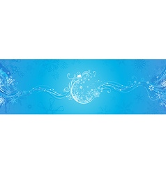 Blue Christmas banner vector image