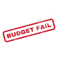 Budget Fail Text Rubber Stamp vector