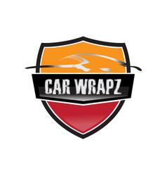 car wrap logo vector image
