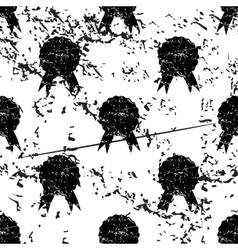 Certificate seal pattern grunge monochrome vector