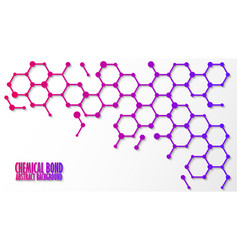 Chemical bond science concept abstract vector