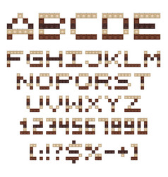 chocolate alphabet letters numbers and signs vector image