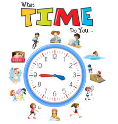 Clock and activity time vector