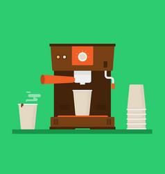 Coffee machine vector
