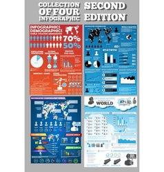 COLLECTION OF FOUR INFOGRAPHICS SECOND EDITION vector image