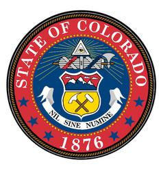 Colorado state seal vector