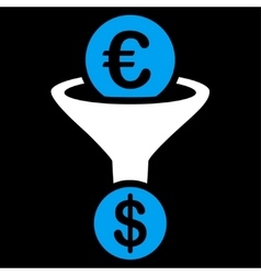 Currency conversion icon from BiColor Euro Banking vector