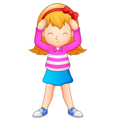 Cute girl cartoon vector
