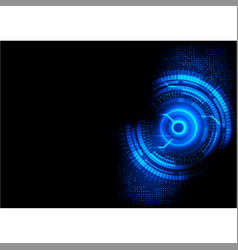 Dark blue abstract technology vector