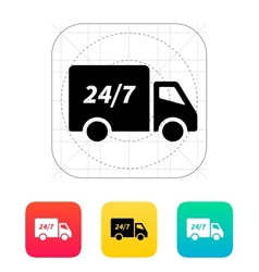 Delivery service seven days a week icon vector