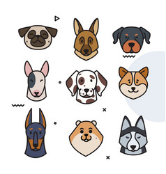 dog trend labels 2018 year of the dog vector image