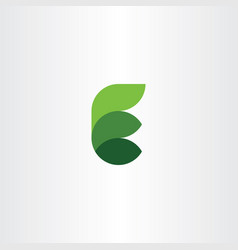 eco leaves e letter logotype green logo vector image