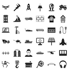 Engineering icons set simple style vector