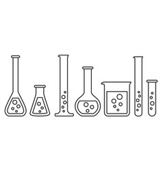 equipment for chemical lab vector image
