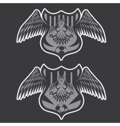 football team crests set with eagles design vector image