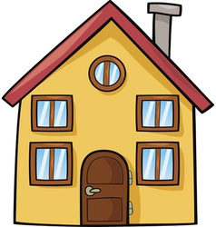 funny house cartoon vector image