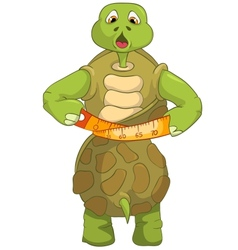 Funny Turtle Diet vector image