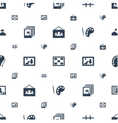 gallery icons pattern seamless white background vector image