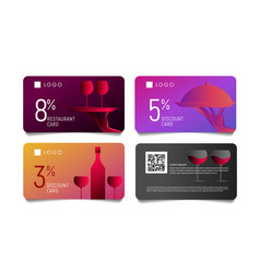 gift voucher or discount card for premium luxury vector image