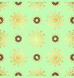 gold circle seamless pattern abstract gold vector image