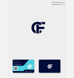 Initial cf or fc creative logo template and vector