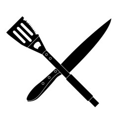 Isolated barbecue cutlery vector